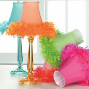 Pink feather lamp shades houston pink feather lamp aloadofball Gallery
